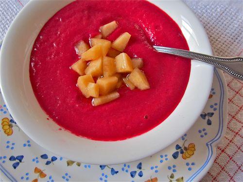 ruby melon soup