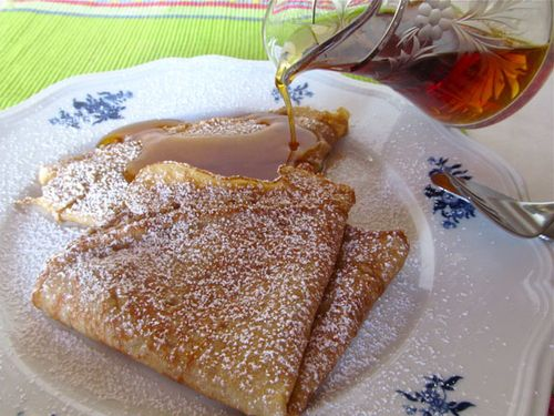 eggnog french crepes