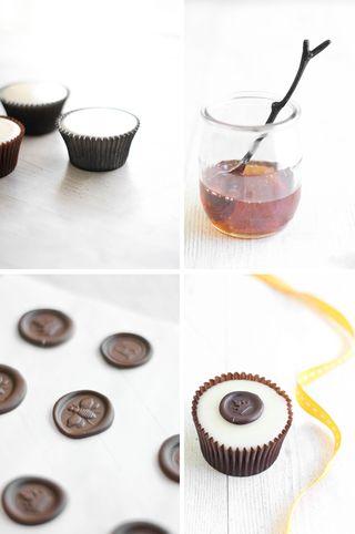 SprinkleBakes Sprinkle Bakes Poured Fondant Honey Cupcakes with Chocolate Wax Seals